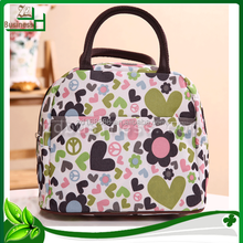 fashion handle polyester makeup bag for lady