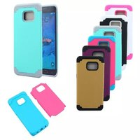 Dual Color Hybrid Combo Rubber Shockproof Armor Cover Case For Samsung Galaxy S6 Edge Plus