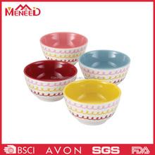 Quality guaranteed A5 custom logo fashionable tony round shape melamine mixing bowl