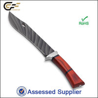 Best Antique Color Wood Handle Long Coated Fixed Blade Bowie Knife/Hunting Machete / Saber Knife