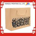 Profesional de impresión barato marrón de papel bolsas con asas