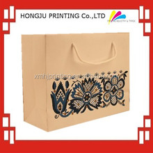 professional printing cheap brown paper bags with handles