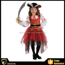 Cute kids pirate performance Costume pirate cosplay Dress Halloween fancy dress performance Costume