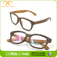 wooden optical spectacle frame used as reading eyewear