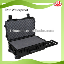 with wheels and handles snowproof shockproof hard case for speakers