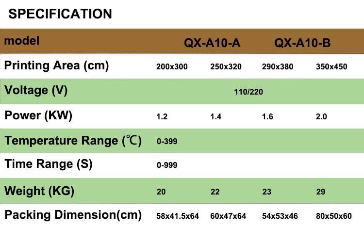 QX-A10-B munual agitando a cabeça de transferência de calor máquina da imprensa do calor da máquina pequena máquina