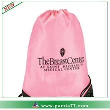 Pink cute wholesale drawstring bag nylon