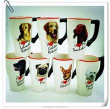 20oz animal design customized glazed ceramic beer cup