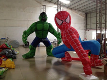 2015 Hot sale giant inflatable superhero, superhero inflatable character