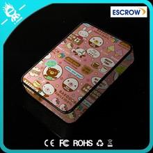 Cute Bear 1300MAH LCD display Portable Dual USB Power Bank External Battery Charger