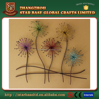 New arrival product metal flowers wall art with low price