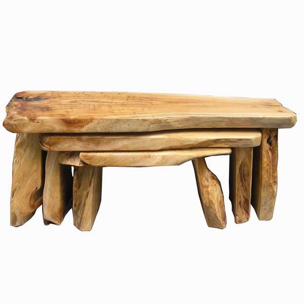 25pcs antique carved irregular handmade wooden chairs