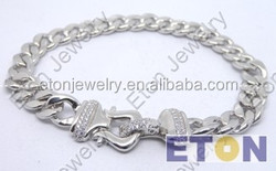 High quality 925 sterling men 's silver chain bracelet chain (B29152)
