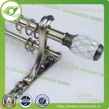 [Water Cube] round shower rod,curtain rods brass,silver curtain rod