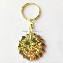Dongguan wholesale promotional military metal keychain