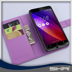 2015 latest hotsale Fashion foldable wallet PU leather Flip case phone cover for Asus Zenfone 2