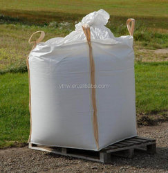 customizable tubular jumbo bags/coated inside/washable and reusable pp tubular bulk bags/ white / no recycle material