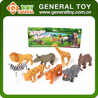 8PCS Wholesale Baby Plastic Jungle Animals