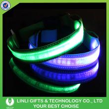 Laser Customized Logo Led Dog Leash, Flashing Dog Leashes, Light Up Dog Leashes