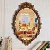 Antique gold European oval framed mirror