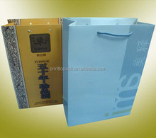 Die cut handle paper bag, kraft durable quality shopping bag