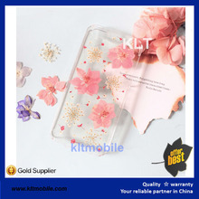 KLT- Fashion Dry pressed natural real flower cell phone case