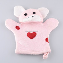 Lovely Pink Cow Soft Animal Bath Sponge Glove For Kids