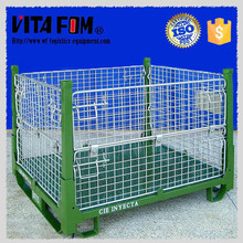 Heavy Duty Warehouse Storage Stackable Wire Mesh Metal Folding Cage