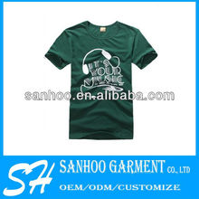 Short Sleeve Customize Tee For Men With Round Collar