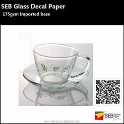 SEB Ceramics Decals | 175gsm Screen Printing Water Slide Decals For Glass/ Water Transfer Paper