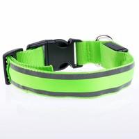 Reflect Light Decorative Dog Collar Pet Fashion Glowing Plain Nylon Dog Collar LED Wholesale Christmas LED Dog Collars
