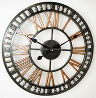 Big Waterproof Iron Antique Outdoor Wall Clock