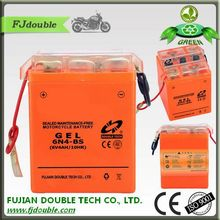 Dry cell rechargeable battery 6 volt 4ah GEL motorcycle battery 6N4-BS