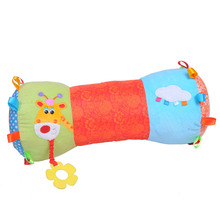 Baby Crib Pillow, PP Cotton Stuffed, Distorting Mirror, Teether and Rattle Multifunction