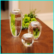 Different size crystal globe candle holder for table decoration