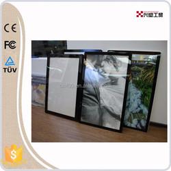 600*800mm super slim LED lighting frame plastic photo frame for advertisement