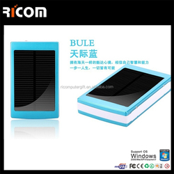 2015 listed new solar charger 10000mah solar battery 4 color solar power bank for iPhone s4--PB207 Shenzhen Ricom