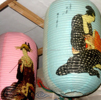 Handmade Maid pattern paper lantern balloons in event & party decoration