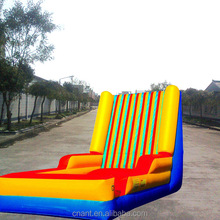 inflatable slip and inflatable slide for outdoor game