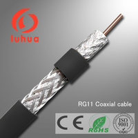 Times / Amphenol RG-11 Tri-Shield Direct Burial Rated Coax 75 Ohm RG11   75 ft F Male Connectors and includes an MPD Digital