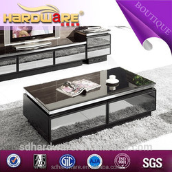 2015 made in china famous furniture glass coffee table models