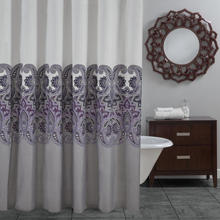 New Design High-End Stylish Pigment Print curtain 100% polyester Shower Curtain, Queen Sizes