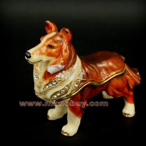 De los animales cajas de la joyería/cajas de la baratija de perro lindo perro de venta al por mayor( m00036)