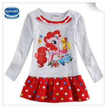 (H6389D) 2-6y children clothes girls casual frocks my little pony winter dresses polka dot new arrive nova kids wear baby dress
