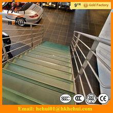 Yy-g1295 hehui di ferro scale ringhiere scale di cemento con esterno scale in acciaio