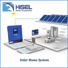 HiSEL Pakistan popular solar inverter high frequency 1-5kva combined MPPT controller and solar panel