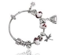 New Arrival Fashionable bead bracelet charm bracelet with pandora beads