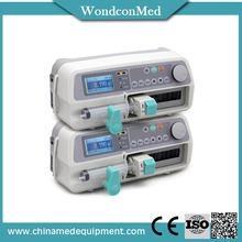 2015 hot sale 4 syringe pump dual channel