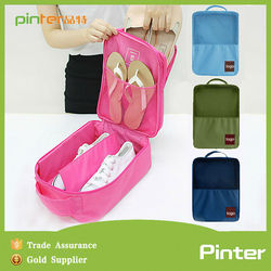 Pinter manufactory 2015 multifunction nylon travel shoe bag,wholesale shoe bag