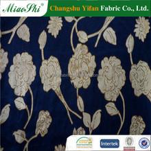 2015 New flower design KS velvet printed gilding fabric,high-class fashion velvet garment